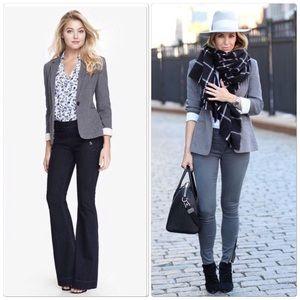 Express cotton gray tweed blazer